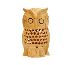 owl office decor. Wholesale Owl Figurine \u0026 Statue - Buy In Bulk Handmade 6.2\u201d Wood Filigree Sculpture With Baby Office Decor