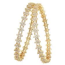 Sasitrends CZ/AD Micro Gold Plated American <b>Diamond Star Design</b>...