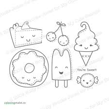 Kawaii Food Girl Coloring Pages
