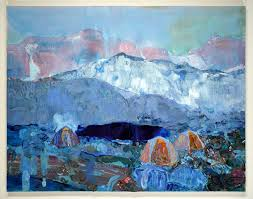 ben reeves alpine tents 2017 oil and acrylic on canvas