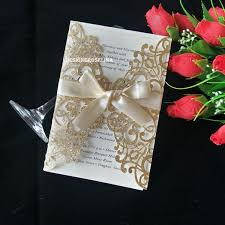 Vistaprint Wedding Seating Chart 2019 Luxury Glitter Laser Cut Wedding Invitations Cards With Champagne Bowknot Floral Anniversary Evening Invite With Envelope Free Ship Simple