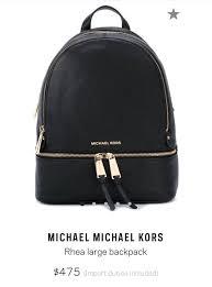 michael kors rhea large backpack women s fashion bags wallets backpacks on carou