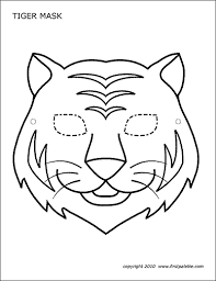 Home > holiday coloring pages > free printable mask coloring pages for kids. Tiger Mask Free Printable Templates Coloring Pages Firstpalette Com