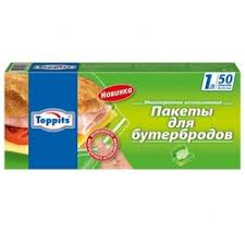 «<b>Пакеты для бутербродов</b> TOPPITS 1 л, 50 шт в упаковке ...