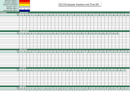 Tracking Employee Time Off Excel Template Employee Pto Tracker Rome Fontanacountryinn Com