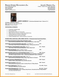 Football Coaching Resume Template College Basketball Coach Resume Inspirationa Football