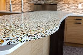 beautiful recycled glass countertops for eco friendly countertop ideas great recycled glass countertops with mosaic