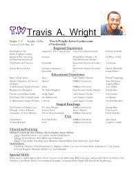 Musical Theater Resume Template Stunning Free Professional Resume Musical Theatre Resume Template
