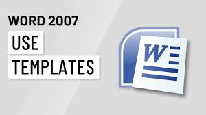 Templates In Word 2007 Word 2007 Using Templates