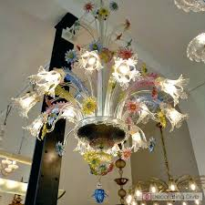 vintage murano glass chandelier circa multi flowers glass chandelier antique murano glass chandelier for