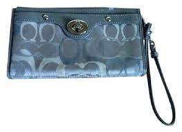 Coach Canvas Leather Wristlet in Gray, Blue ...