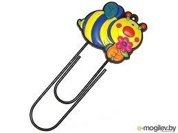 Купить скрепки <b>Закладка</b>-<b>скрепка Эврика Пчела</b> 91548 с ...
