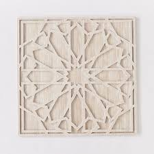 abstract printed white wood wall art canvas washed wood big geometric stone carvings patterns
