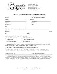 Medical Record Release Letter 28 Printable Authorization Letter For Release Of Medical Records