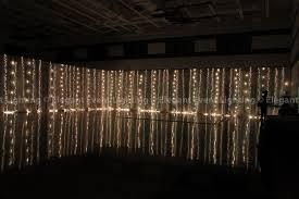 gym fairy light wall