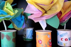 Flower Vase With Paper Tissue Paper Flowers Vases Crafts For Kids Pbs Parents