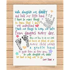 personalised presents gifts for daddy dad father from son daughter newborn toddler kids poem 1st first