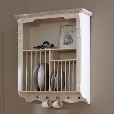 lyon range cream wall mounted plate rack flora furniture