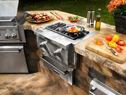 Bbq Outdoor Kitchen Kits Charcoal Vs Gas Outdoor Grills Hgtv