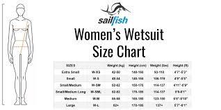 Sailfish Wetsuit Size Chart Sailfish Womens Vibrant Wetsuit