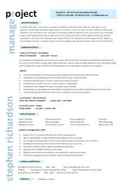 Project Manager Resume Templates Gorgeous Resume Templates For Project Managers It Project Manager Resume