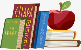 vector stacked books and apple book apple education png and vector