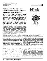 Nata 2015 Exertional Heat Injury