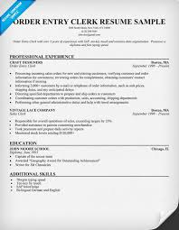 Clerk Resume Sample Order Entry Clerk Sample Resume Order Entry Clerk  Txmznapb
