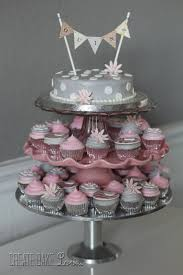 Pink Baby Shower Cupcake Stand