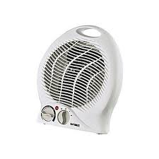 fan with heater. optimus h-1322-portable fan heater with thermostat, white