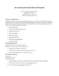 Example Of Resumes For Internships How Summer Intern Resume Student To Write A For Internship College