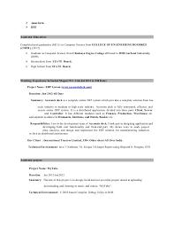 Resume Sample Java Developer Profile Java Developer Salary How To