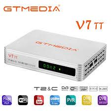 NEUE modell TV box GTMEDIA V7 TT DVB T/T2/DVB C/J.83B update von TT Pro  Unterstützung USB PVR Bereit und USB wifi zu Netzwerk  Sharing|Satelliten-TV-Receiver