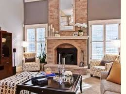 two story great room with fireplace idea