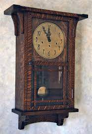 arts crafts wall clock clock wall