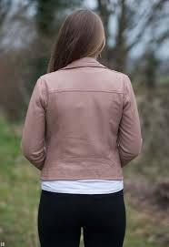 this dalby blush pink leather jacket at allsaints com for 298