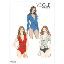 Bodysuit Sewing Pattern Delectable Misses Bodysuit Vogue Sewing Pattern 48 Sew Essential