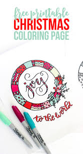 The funniest part is that the kids not only enjoy coloring but adults also love coloring these pages. Free Joy To The World Christmas Coloring Page Coloring Pages