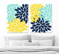 yellow wall decor flower wall art