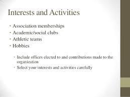 Interests ...