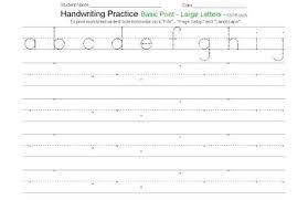 Penmanship Practice Sheet Free Printable Writing Sheets Handwriting Worksheet