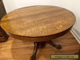 antique round dining table for sale. antique victorian large oak round dining table with claw feet for sale