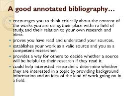 annotated bibliography example for mla format