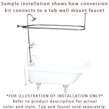 clawfoot tub shower faucets chrome tub shower conversion kit with enclosure curtain rod clawfoot bathtub faucets