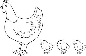 Small Picture Mother hen colored eggs and baby chicks easter clipart image 20319