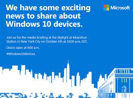 Microsoft Invitation Microsoft Sends Out Invitations For October 6 Windows 10 Hardware