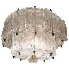 murano glass mattonella chandelier italy circa 1965 for