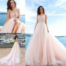 discount exquisite blush pink wedding gowns high quality tulle