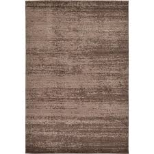 unique loom del mar brown 6 ft x 9 ft rug