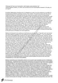 medea essay on jason year vce english thinkswap medea essay on jason